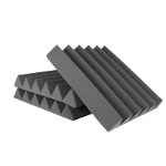 ATS Wedge Foam Acoustic Panels (Charcoal/Blue) - 12x12x2 (12PK)
