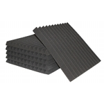ATS Wedge Foam Acoustic Panels (Charcoal) - 24x24x4 (3PK)