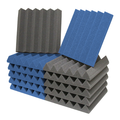 Ats Wedge Foam Acoustic Panels Charcoal Blue 12x12x2