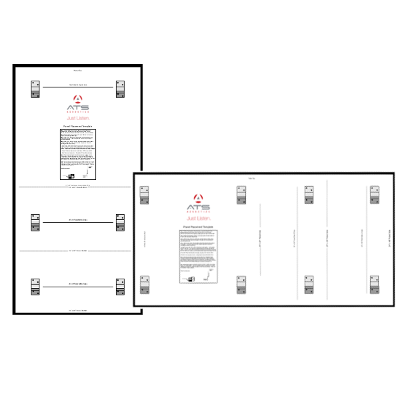 ATS Acoustics Wall Mounting Template